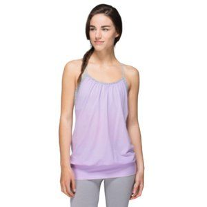 Lululemon No Limits Tank in Pretty Purple / Wee Are From Space Silver Spoon